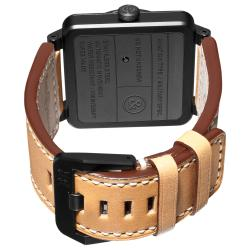 Bell & Ross Men's 'Aviation' Black Dial Tan Leather Strap Watch - Thumbnail 1