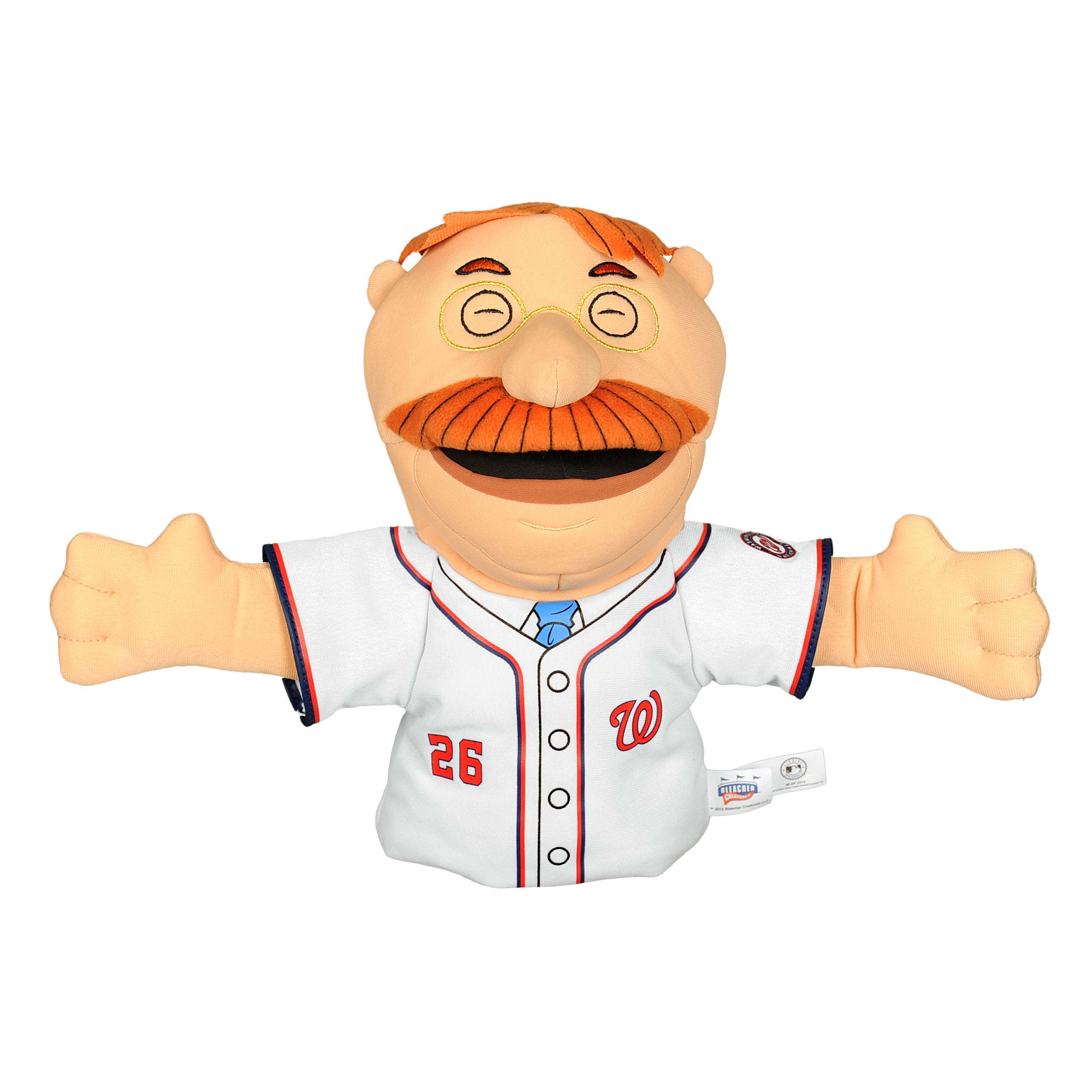 Washington Nationals 'Teddy Roosevelt' Mascot Hand Puppet
