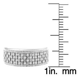 14k White Gold 1/3ct TDW White Diamond Band (H-I, I1-I2) - Thumbnail 1