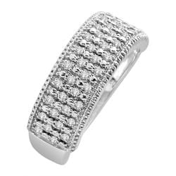 14k White Gold 1/3ct TDW White Diamond Band (H-I, I1-I2) - Thumbnail 2