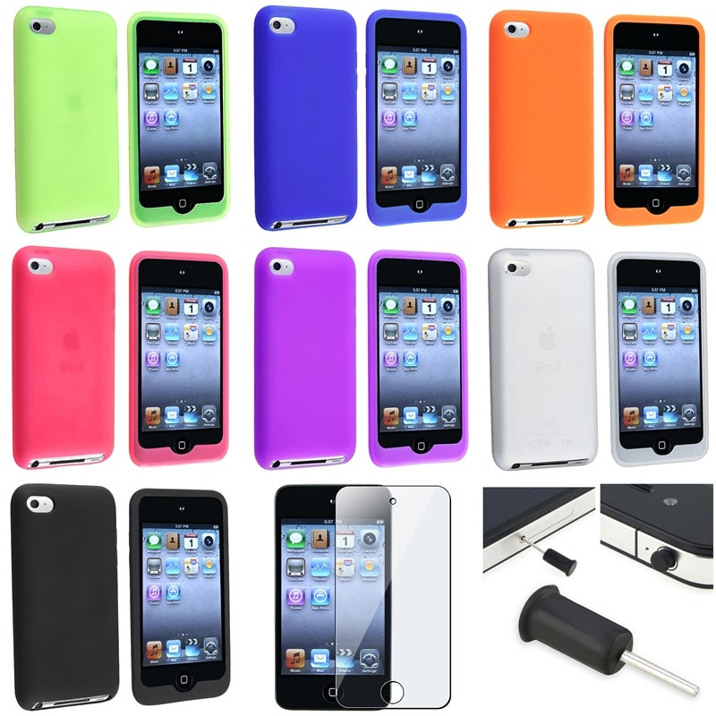 Silicone Cases/ Protector/ Dust Cap for Apple iPod Touch Generation 4