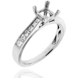 14k White Gold 3/5ct TDW Semi-mount Diamond Engagement Ring (G-H, SI-1/SI-2)
