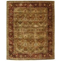 Safavieh Handmade Persian Legend Light Green/ Rust Wool Rug - 12' x 15'