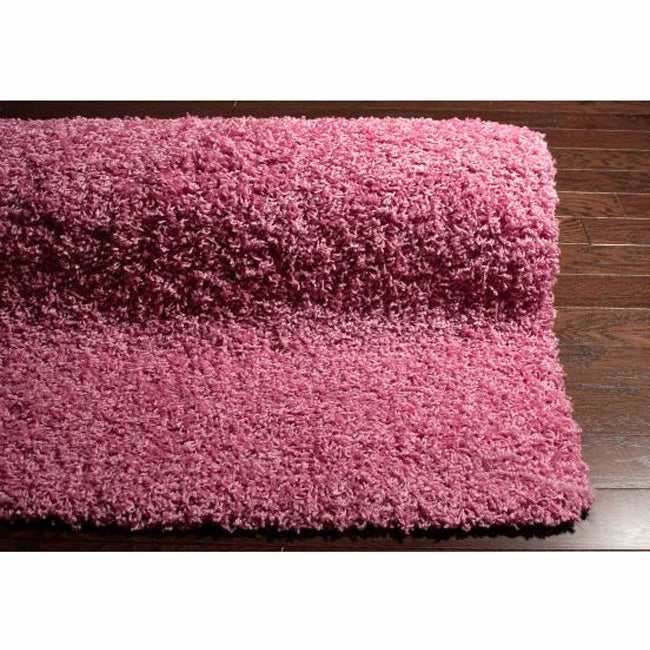 Alexa 'My Soft And Plush' Pink Shag Rug (5'3 X 8')