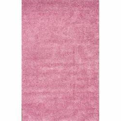 Alexa 'My Soft and Plush' Pink Shag Rug (5'3 x 8')