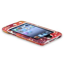 Orange Case/Diamond LCD Protector Set for Apple iPod Touch Generation 4 - Thumbnail 2