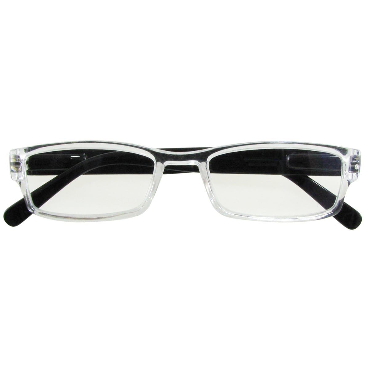 E-specs by Evolutioneyes Black/Clear Anti-reflective Computer Glasses