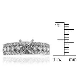 14k White Gold 3/4ct TDW Semi-mount Diamond Engagement Ring (G-H, SI-1/SI-2) - Thumbnail 2