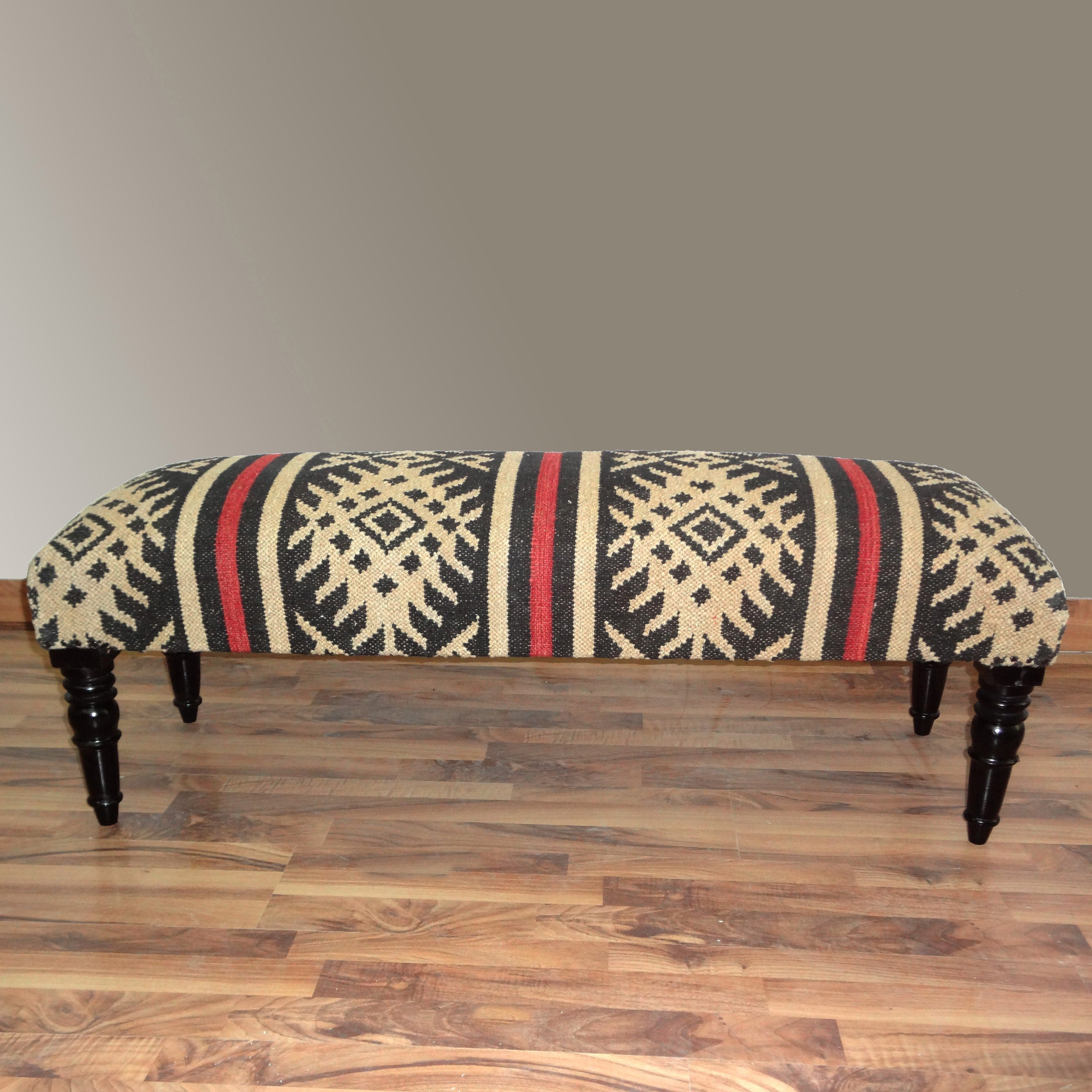nuLOOM Hand-upholstered Country Multi Wood Bench