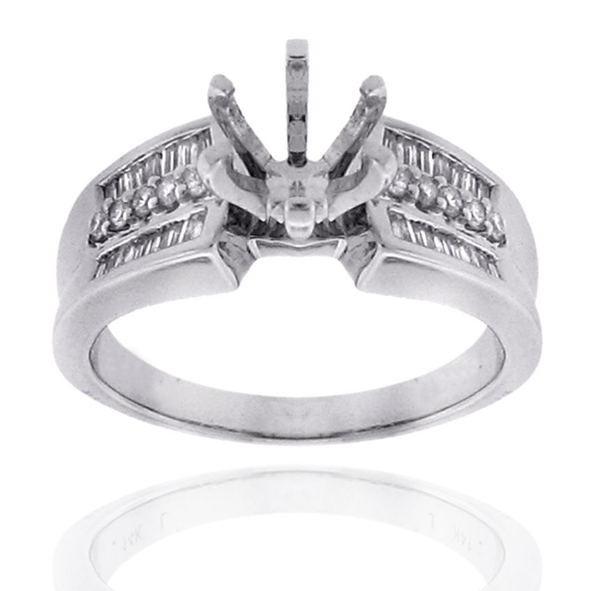 14k White Gold 1/2ct TDW Diamond Engagement Ring (G-H, SI-1/SI-2)