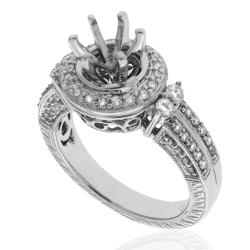 14k White Gold 1/2ct TDW Diamond Engagement Ring (G-H, SI-1/SI-2) - Thumbnail 1