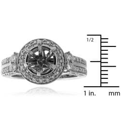 14k White Gold 1/2ct TDW Diamond Engagement Ring (G-H, SI-1/SI-2) - Thumbnail 2