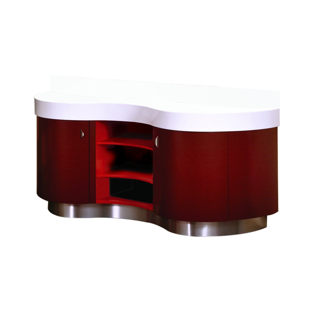 Burgundy/ Red Artemisa Vanity