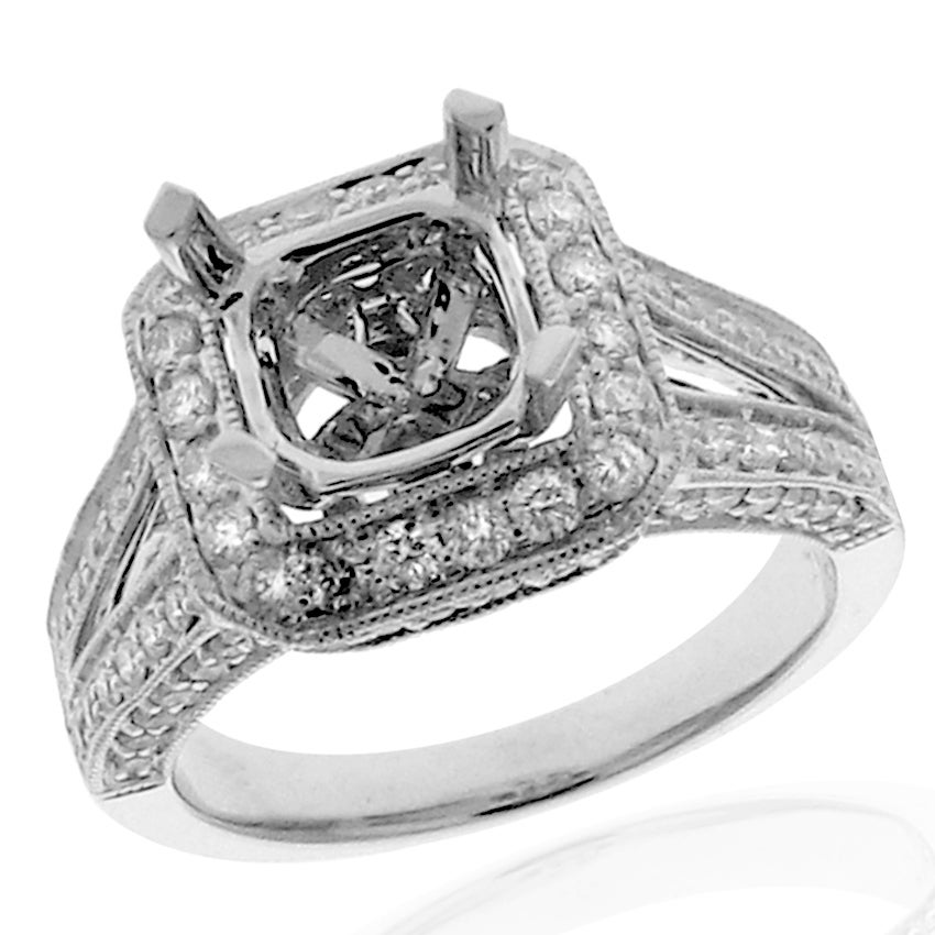 14k White Gold 3/4ct TDW Diamond Round Engagement Ring (G-H, SI-1/SI-2)