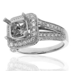 14k White Gold 3/4ct TDW Diamond Round Engagement Ring (G-H, SI-1/SI-2) - Thumbnail 1