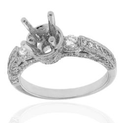 14k White Gold 7/8ct TDW Diamond Round Engagement Ring (G-H, SI-1/SI-2) - Thumbnail 1
