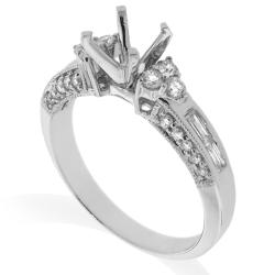 14k White Gold 1/2ct TDW Diamond Round Engagement Ring (G-H, SI-1/SI-2) - Thumbnail 1
