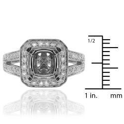 14k White Gold 3/4ct TDW Diamond Round Engagement Ring (G-H, SI-1/SI-2) - Thumbnail 2