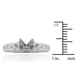 14k White Gold 1/2ct TDW Diamond Round Engagement Ring (G-H, SI-1/SI-2) - Thumbnail 2