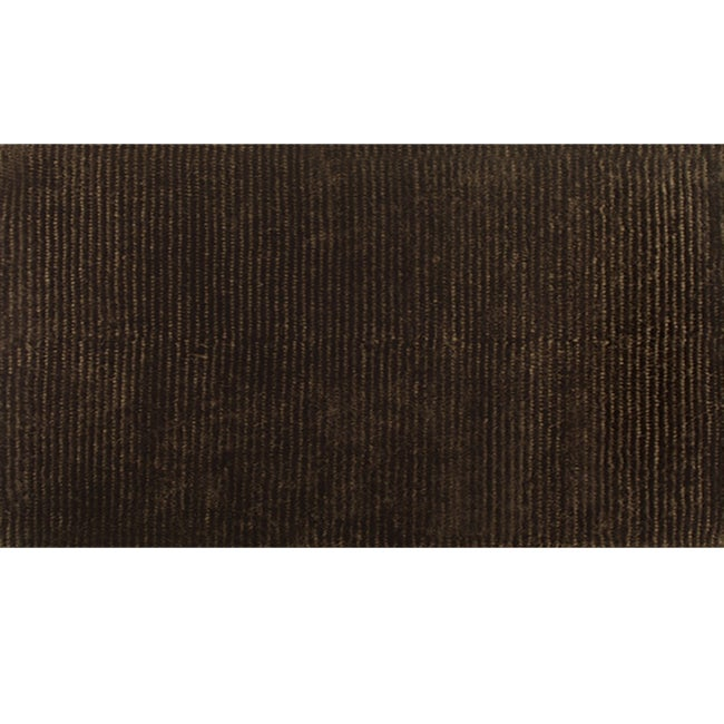 "Hand-woven Dotted Motion Brown Wool Rug - 4'7"" x 7'7"""