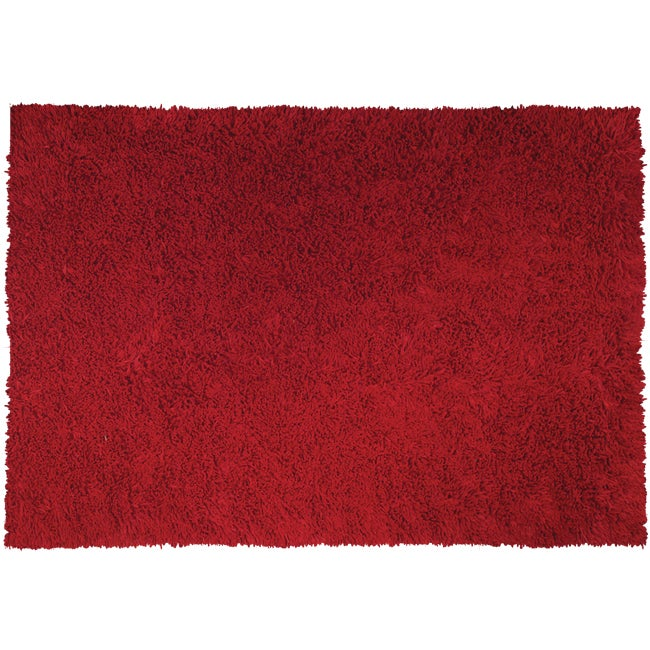Handmade Pasta Red Cotton Rug (4'7 x 7'7)