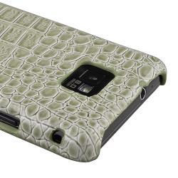 Pale Olive Crocodile Rear Snap-on Case for Samsung Galaxy S II i9100