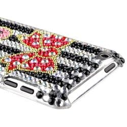 Zebra/ Bling Bow and Heart Case for Apple iPod Touch Generation 4 - Thumbnail 2
