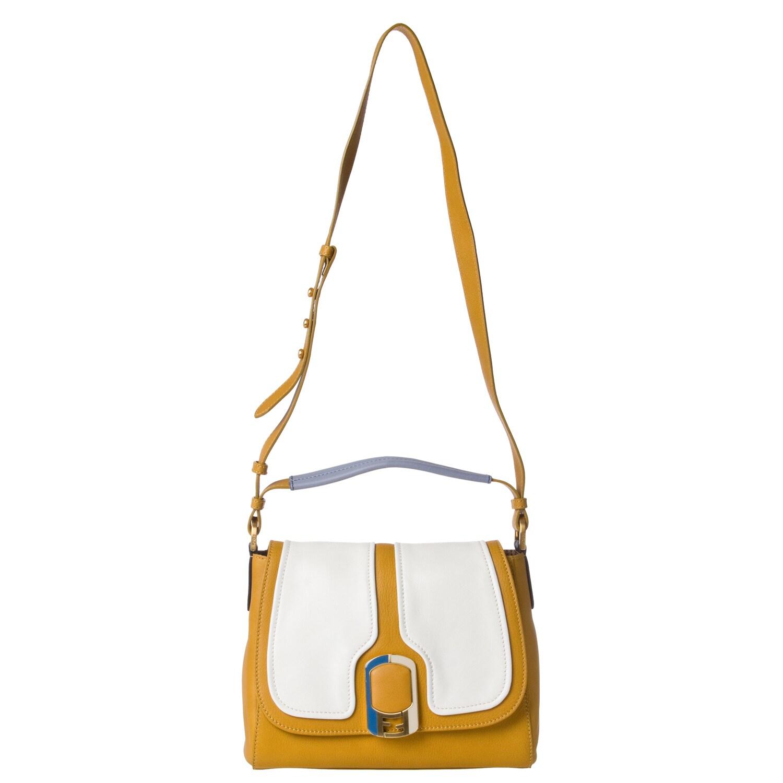Fendi 'Anna' Color-block Leather Shoulder Bag