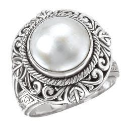 Avanti Sterling Silver White Mabe Pearl Ring https://ak1.ostkcdn.com/images/products/80/201/P14366582.jpg?impolicy=medium