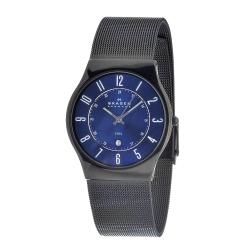 Skagen Men's 233XLSBN Stainless Steel Blue Dial Multifunction Watch
