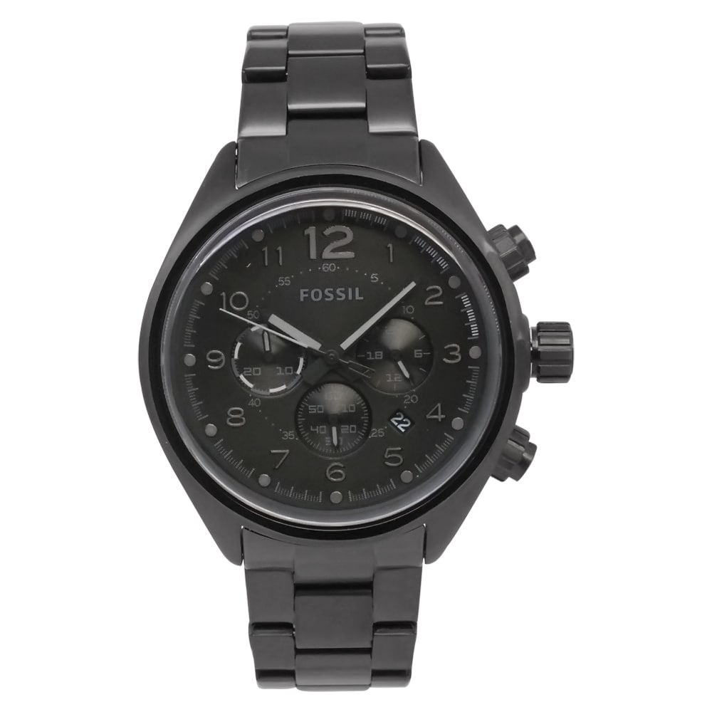 Fossil Men's CH2803 'Flight' Black Stainless Steel Watch - Thumbnail 0