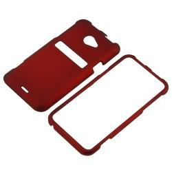 Red Snap-on Rubber Coated Case for HTC EVO 4G LTE