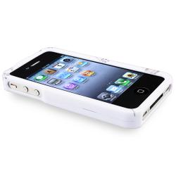 White Snap-on Rubber Coated Case for Apple iPhone 4/ 4S - Thumbnail 2