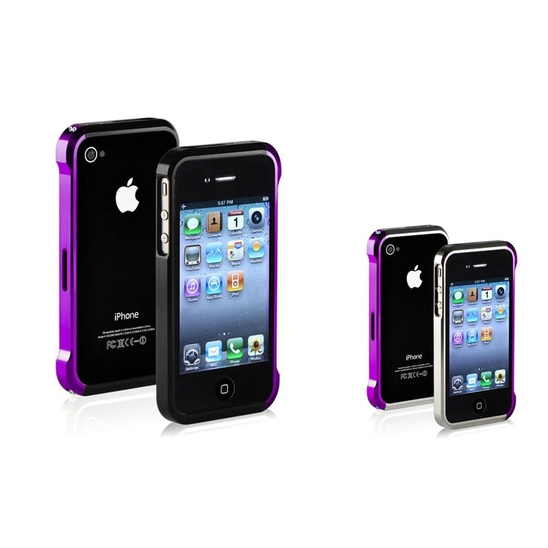 Purple/ Black/ Purple/ Silver Metal Bumper for Apple iPhone 4/ 4S