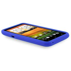 Blue Silicone Skin Case for HTC EVO 4G LTE - Thumbnail 2