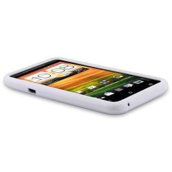 White Silicone Skin Case for HTC EVO 4G LTE - Thumbnail 2