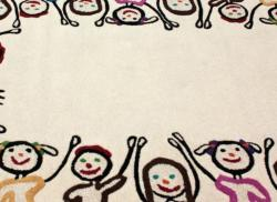 nuLOOM Handmade Kids Playing Ivory Wool Rug (6' x 9') - Thumbnail 2