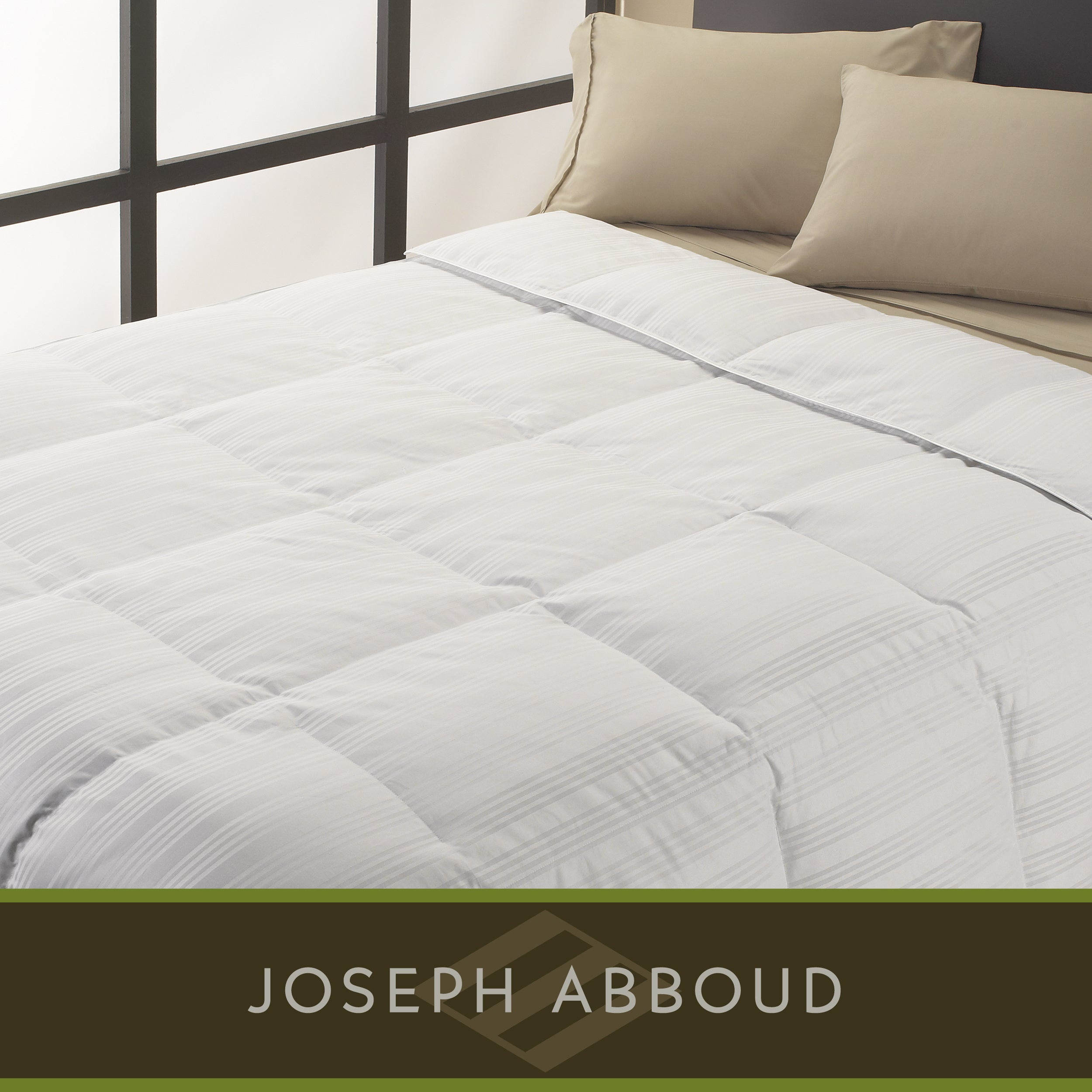 Joseph Abboud 1000 Thread Count Twin-size White Goose Down Comforter