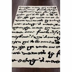 nuLOOM Handmade Kids Journal Natural Wool Rug (7'6x 9'6) - Thumbnail 1