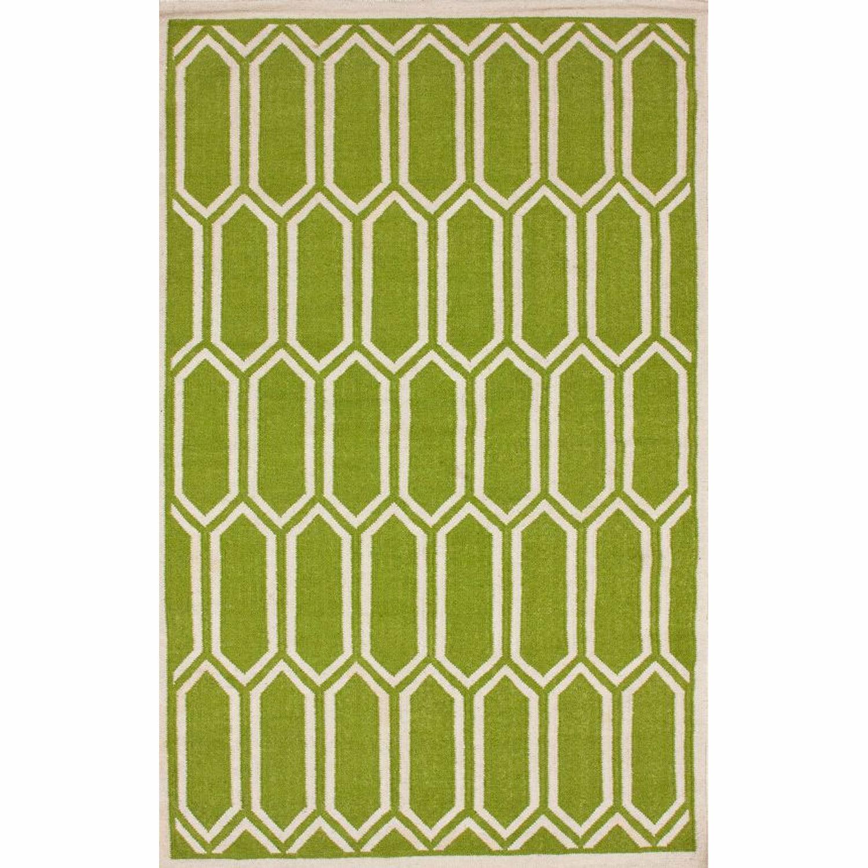NuLOOM Handmade Marrakesh Kilim Flatweave Trellis Green