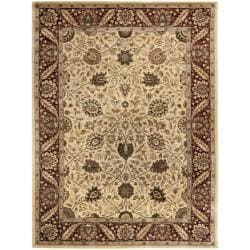 Safavieh Handmade Persian Legend Ivory/ Red Wool Rug - 8'3 x 11' - Thumbnail 0