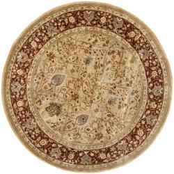 Safavieh Handmade Persian Legend Ivory/ Rust Wool Rug (8' Round)