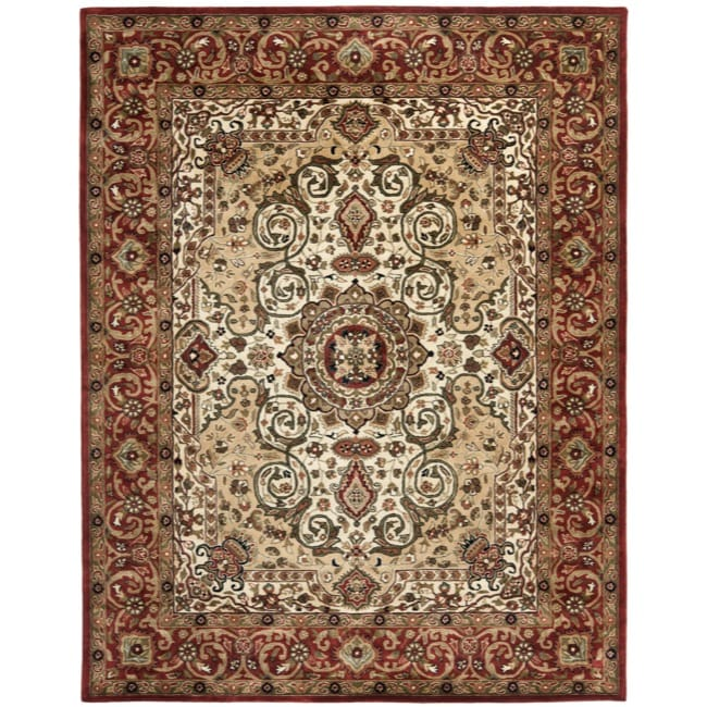 Safavieh Handmade Persian Legend Red/ Ivory Wool Rug (9'6 x 13'6)