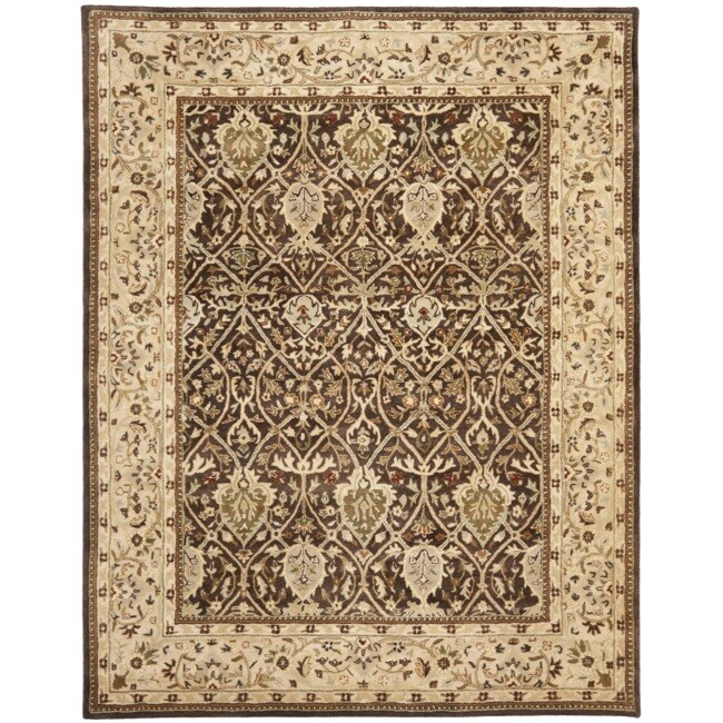 Safavieh Handmade Persian Legend Brown/ Beige Wool Rug (7'6 x 9'6)