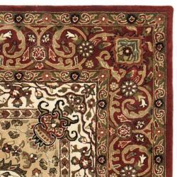 Safavieh Handmade Persian Legend Red/ Ivory Wool Rug (9'6 x 13'6) - Thumbnail 1