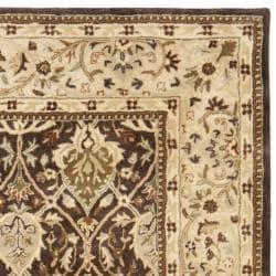 Safavieh Handmade Persian Legend Brown/ Beige Wool Rug (7'6 x 9'6) - Thumbnail 1