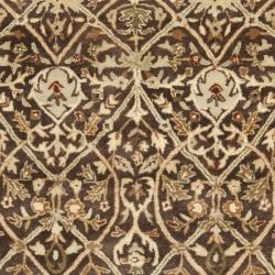Safavieh Handmade Persian Legend Brown/ Beige Wool Rug (7'6 x 9'6) - Thumbnail 2