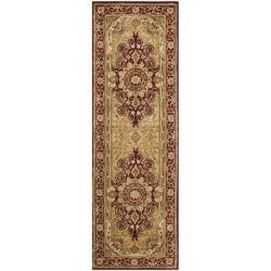 Safavieh Handmade Persian Legend Burgundy Wool Rug (2'6 x 12')