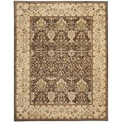Safavieh Handmade Persian Legend Brown/ Beige Wool Rug (7'6 x 9'6)