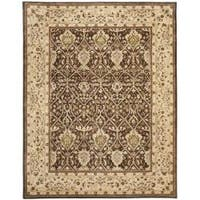 Safavieh Handmade Persian Legend Brown/ Beige Wool Rug (7'6 x 9'6) - 7'6 x 9'6